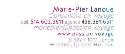 Marie-Pier Lanoue Passion Voyage